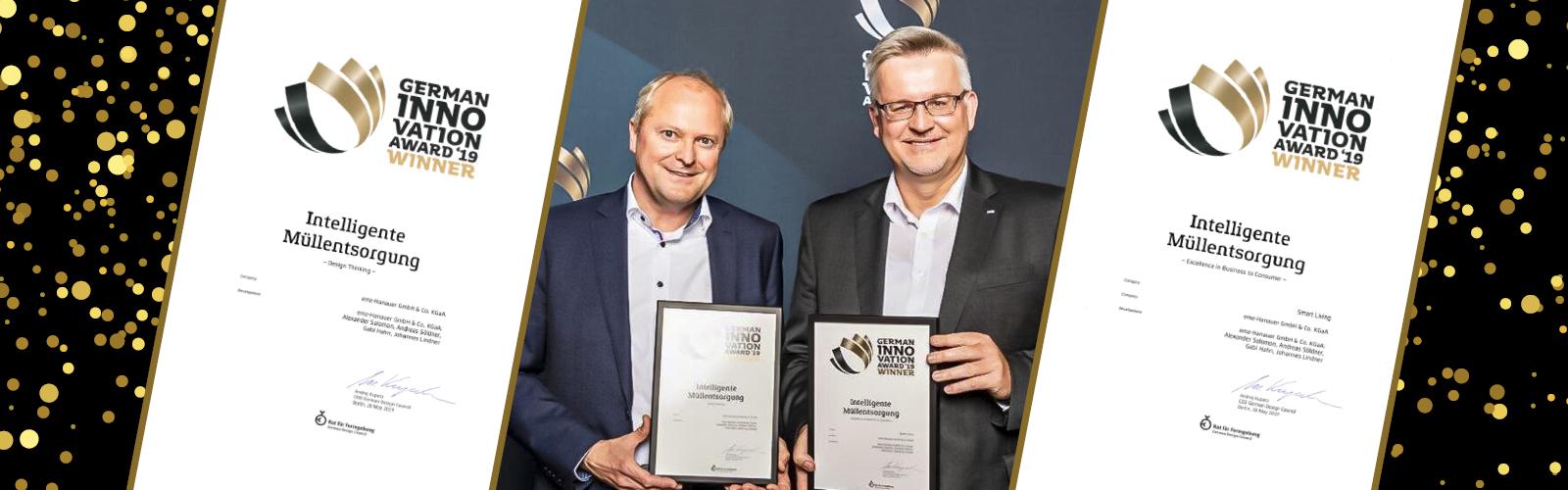 egate digi gewinnt German Innovation Award 2019
